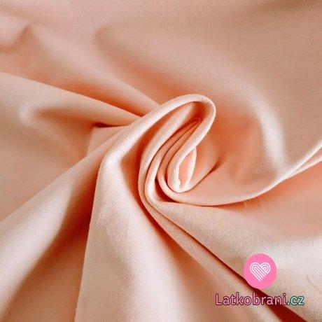 Jednobarevný úplet pastelově růžový 220 g