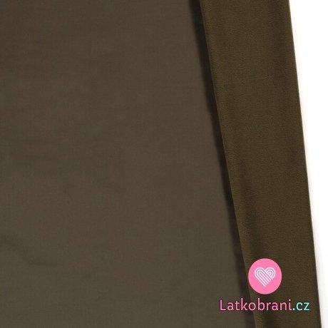 Softshell khaki zelená s fleecem