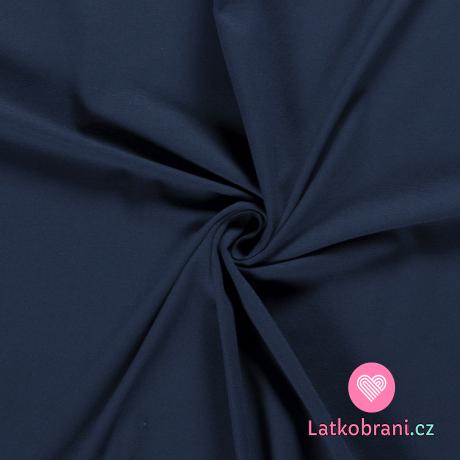 Úplet jednobarevný modrý indigo