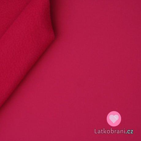 Softshell růžový pink s fleecem