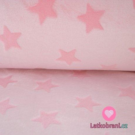 Wellsoft hvězdy vytlačené na růžové