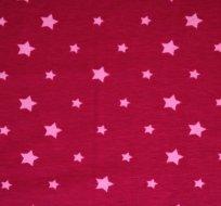 Úplet hvězdy světle růžové na malinové (různě veliké)