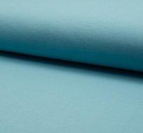 Teplákovina jednobarevná zaprášená modrá