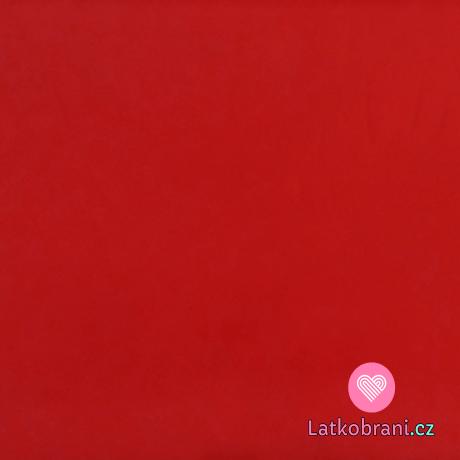 Šusťák jednobarevný červený