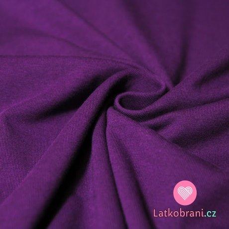Jednobarevný úplet tmavě fialový 200gr