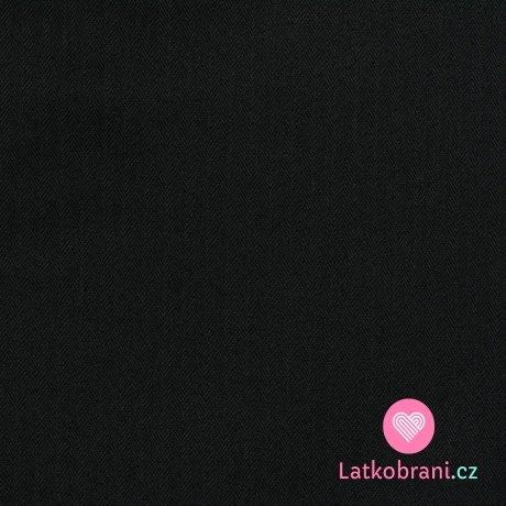 Softshell s fleecem, rybí kost černá