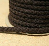 Šňůra kulatá oděvní BAVLNA 9 mm hnědá