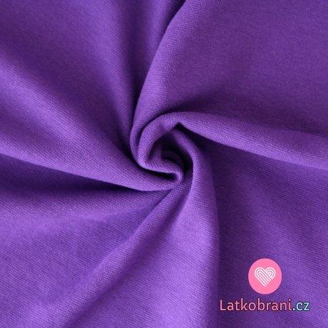 Náplet hladký sytě fialkový (střední)