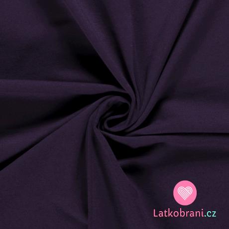 Teplákovina jednobarevná temně fialová