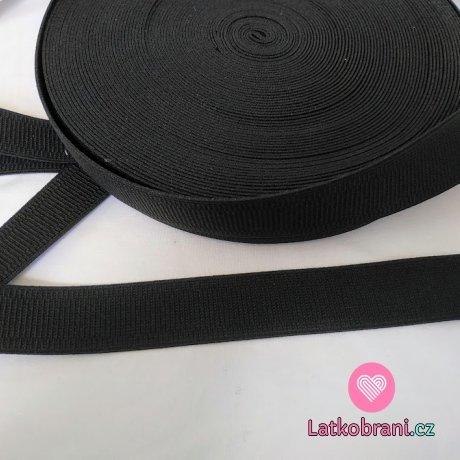 Pruženka prádlová černá 30 mm