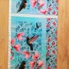 Úplet panel kolibříci na modré s květy magnolie