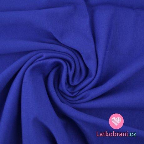 Jednobarevná teplákovina královsky modrá