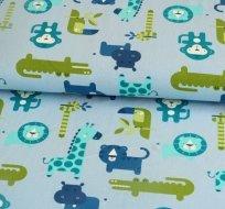 Úplet krokodýl, hroch, opice na modré - ZBYTEK