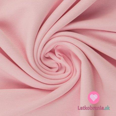 Teplákovina jednobarevná počesaná světle růžová