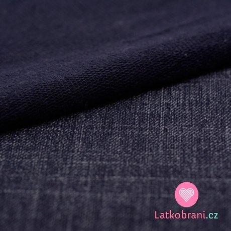 Teplákovina potisk efekt jeans