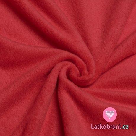 Slabší fleece červený