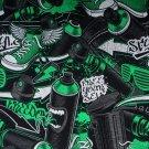 Úplet potisk street style zelený