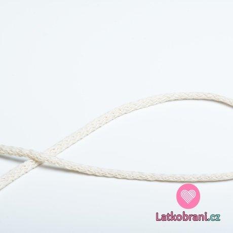 Šňůra kulatá oděvní bavlna 4 mm béžová