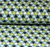 Úplet geometrie trojúhelničky zelené modré