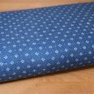 Jeans/Denim květiny ornamenty na modré-ZBYTEK