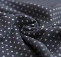 Úplet puntíky bílé šedý podklad (malé)