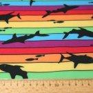 Softshell žralok na duhových proužkách s fleecem