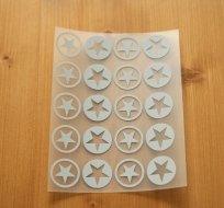 Reflexní nažehlovačka malé hvězdičky v kroužku malé (20ks)
