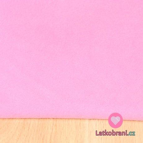 Jemný polar fleece růžová dětská antipiling