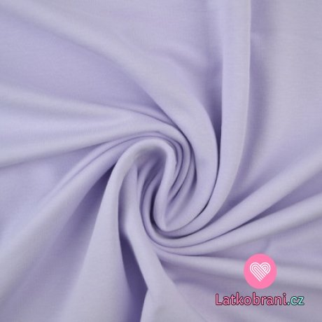 Jednobarevná teplákovina levandulová