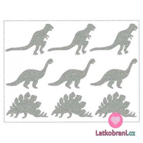 Reflexní nažehlovačka dinosauři 6ks