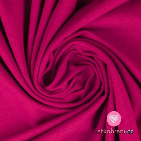 Jednobarevný úplet fuchsiově růžový