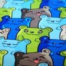 Teplákovina malovaní medvídci v řadě