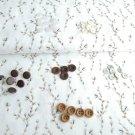 Mix gombíkov na vetvičkách popelínu