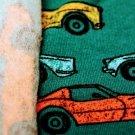 Teplákovina počesaná barevná auta na petrolejové
