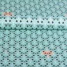Bavlněné plátno kočičky v řadě na mintové