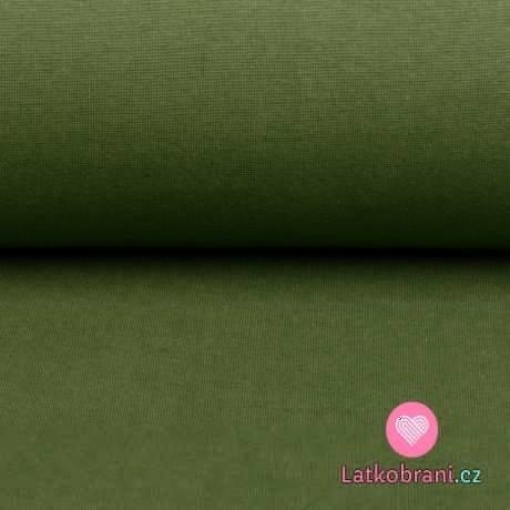 Náplet jednobarevný vojensky zelený