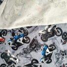 Úplet potisk barevné motorky na šedé 180 g
