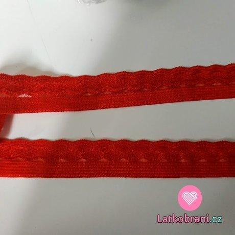 Pruženka prádlová, ozdobná červená 14 mm