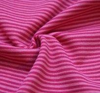 RIB / náplet proužky růžové s pink růžovou