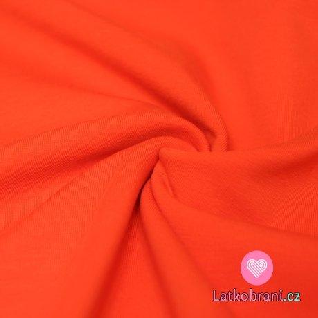 Teplákovina oranžová 290g