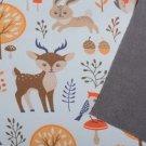 Softshell potisk lesní zvířátka na smetanové