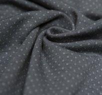 Úplet puntíky bílé drobné na šedém podkladu