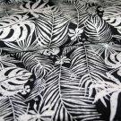 Úplet potisk palmové listy na černé