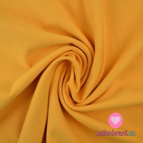 Jednobarevná teplákovina žlutá hořčicová