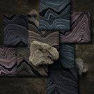 Teplákovina s příměsí modalu potisk abstraktní vrstvy na tmavší mintové