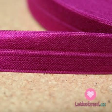 Šikmý proužek / lemovací pruženka amarantová 19mm