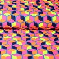 Úplet geometrické tvary v syté barvě modré