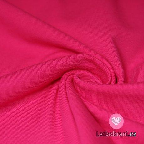 Jednobarevný úplet růžová výrazná 215g-ZBYTEK