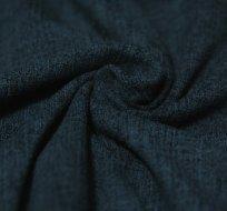 Teplákovina Jeans Denim tmavě modrá žíhaná