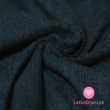 Úplet Jeans Denim tmavě modrá žíhaná